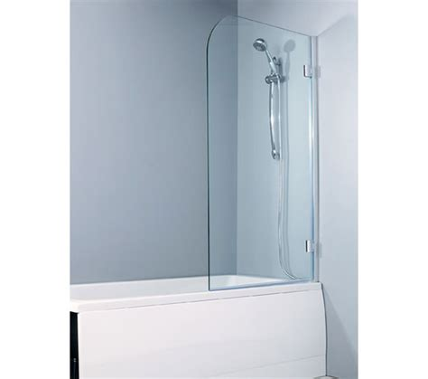 hinged bath shower screens hinged bath screen 8mm glass 1500 x 900 left