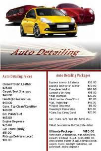 auto detailing flyer template 9 best images of auto detailing flyers auto detailing