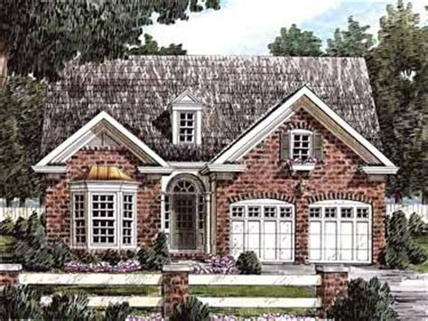 brick cottage house plans front porch homes downsize in style w colonial brick cottage