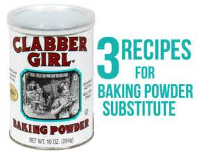 baking powder substitute without cream of tartar