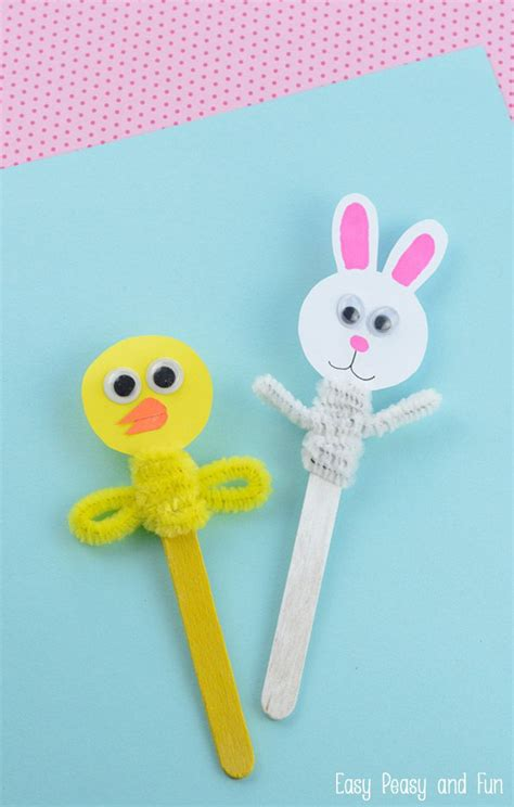 easy craft stick projects easter craft stick puppets craft sticks easter crafts