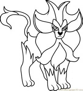pyroar pokemon coloring free pok 233 mon coloring pages coloringpages101
