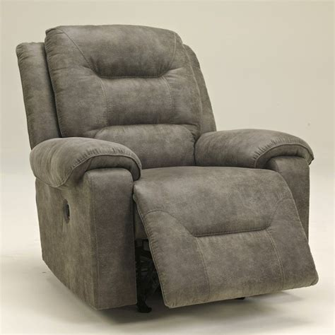 Furniture Power Recliner by Furniture Rotation Power Rocker Recliner In Smoke