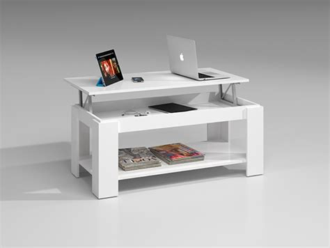 Table basse relevable Gozo Blanc brillant