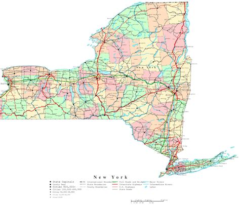 map of state of new york new york printable map