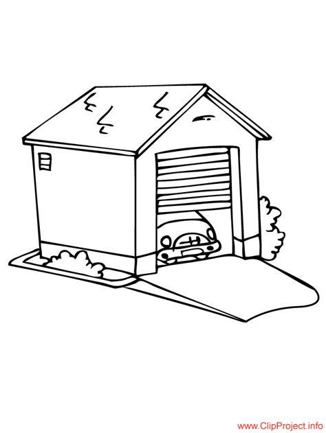 Garage coloring sheet for free