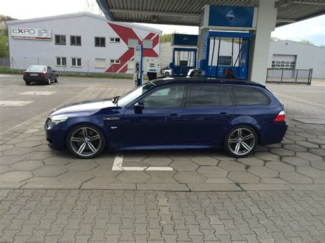 E61 Ha Tieferlegen by E61 M5 Touring In Interlagosblau Tiefer Vmax 5er