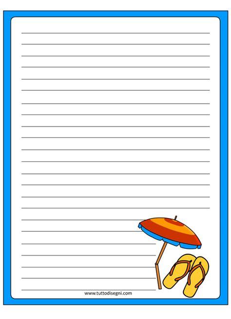 carta da lettere per bambini carta da lettere estate tuttodisegni