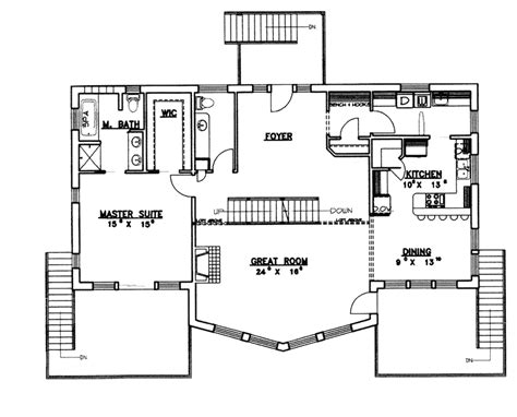Waterfront Floor Plans | dealing with waterfront house plans 959 latest