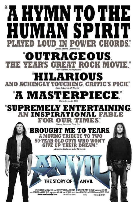 film review quotes movie review anvil the story of anvil