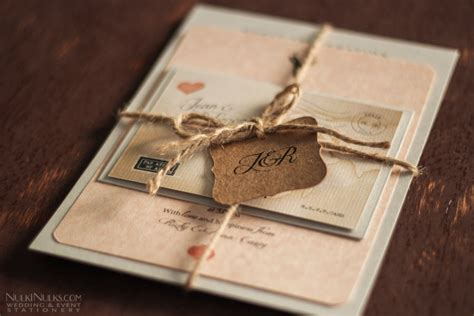 bespoke wedding invitations s journey vintage map travel theme real weddings