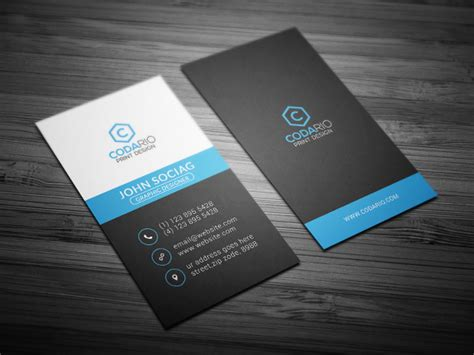 modern business card template vertical 68 business card free printable psd eps word format