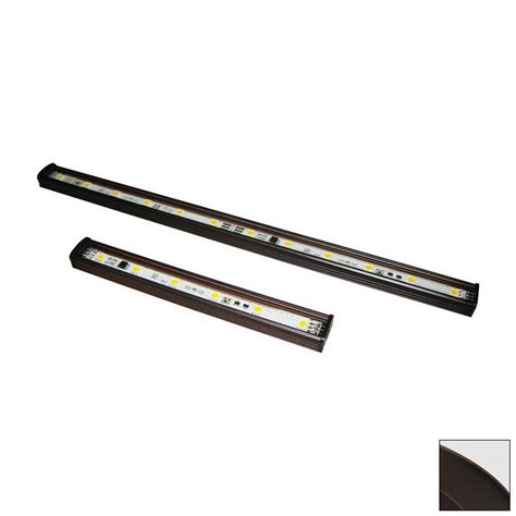cabinet led light bar hardwired shop nora lighting 24 in hardwired cabinet led light