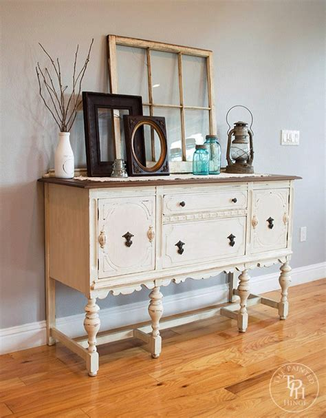 Dining Room Sideboard Decorating Ideas sideboard buffet hutch chalk paint makeover