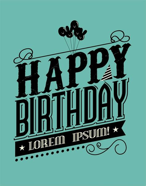 happy birthday text design vector free download black birthday font illustrator vector graphics my free