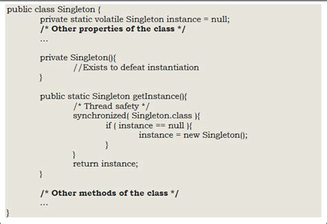 singleton pattern java enum exle sapm course blog page 3 just another informatics