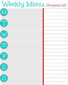 Free Weekly Menu Planner Template by Free Printable Weekly Menu Planner And Grocery Shopping