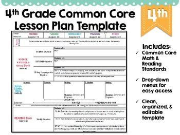 4th Grade Card Templates by 4th Grade Common Lesson Plan Template Lesson Plan