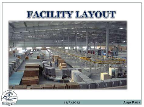 facility layout presentation facility layout ppt