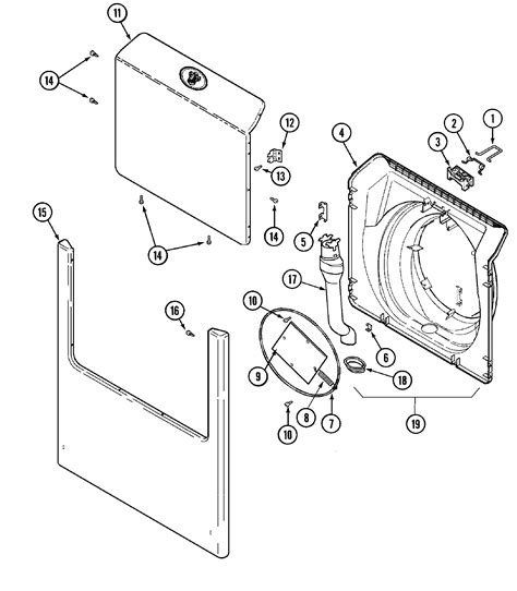 maytag washer parts diagram size