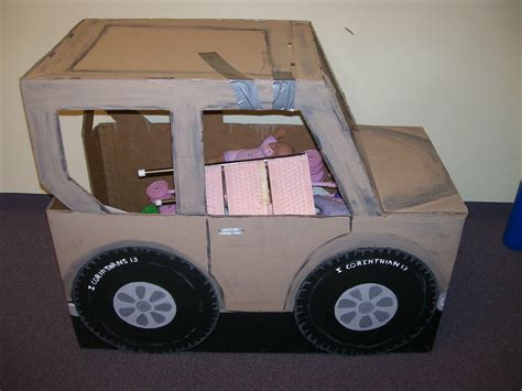 safari jeep craft widget worm cardboard jeep