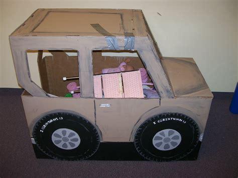 box jeep widget worm cardboard jeep