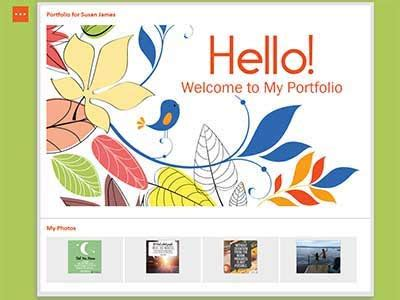 create your free professional career portfolio website