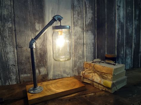 Rustic Industrial Lighting by Jar Desk L Industrial L Jar Light