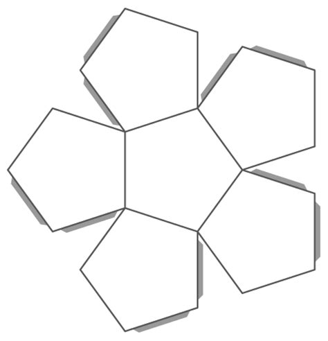 How To Make A Dodecahedron Out Of Paper - dodecahedron template printable images