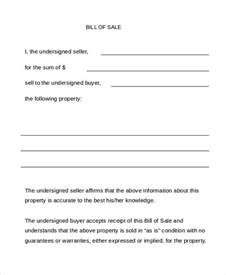 Trade Bill Of Sale Template by Bill Of Sale Form 13 Free Word Pdf Documents