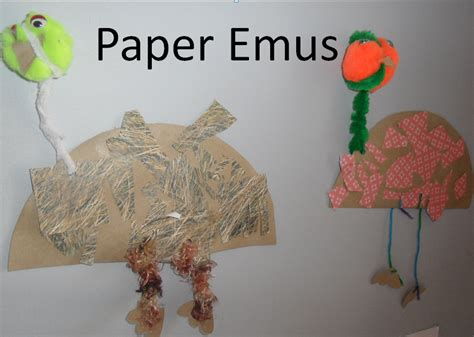 Craft Paper Australia - paper emus australia day craft kindergarten