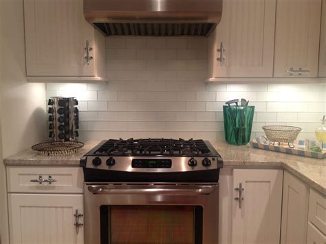 Kitchen With Glass Backsplash by Frosted White Glass Subway Tile Kitchen Backsplash