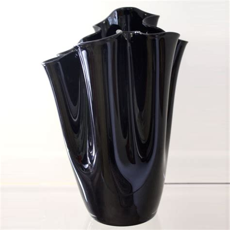 Black Glass For Vases black glass handkerchief vase ten and a half thousand things