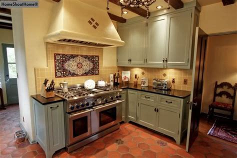 mexican kitchen cabinets medium gray green cabinets with mexican tiled floor renovate it kitchen green