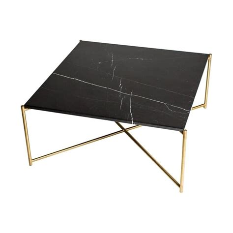 black marble coffee table buy black marble square coffee table brass base at
