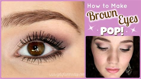 colors that bring out brown how to make brown pop makeup tutorial