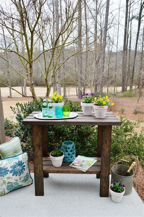 build potting bench potting bench plans refresh restyle