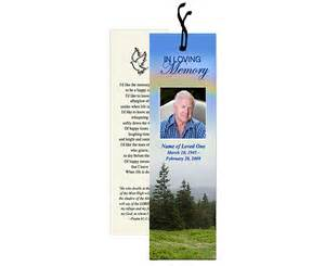 Funeral Bookmarks Template Free by The Funeral Program Site Releases New Templates For