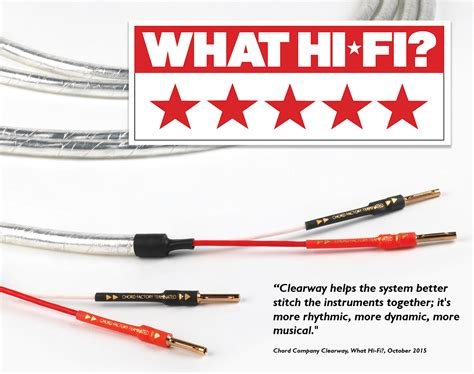 hifi speaker cable reviews product review chord clearway speaker cable what hi fi