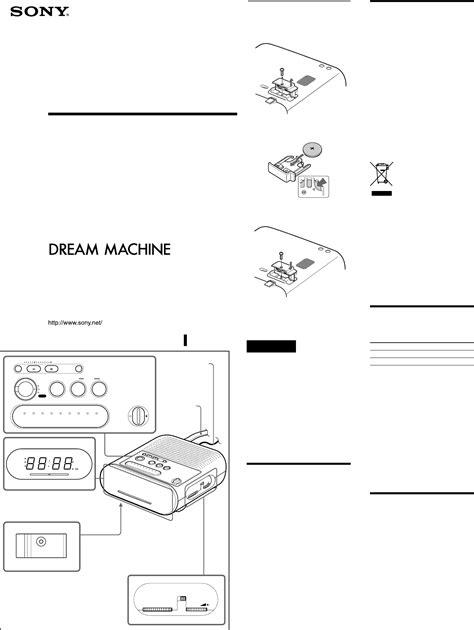 Sony Clock Radio Icf C218 User Guide Manualsonline Com