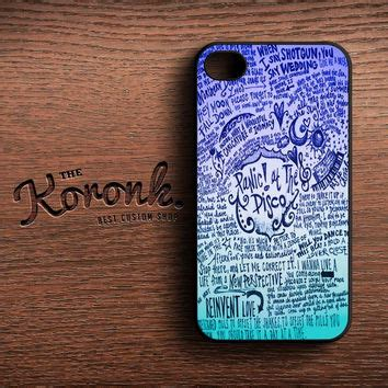 Casing Iphone 7 Panic At The Disco Lyric Cover Custom design panic at the disco lyric quotes from koronk phone