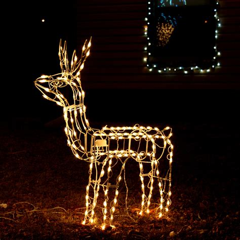 reindeer christmas lawn ornament picture free photograph