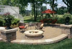 Great Patio Designs Outdoor Pit Seating Ideas Corner