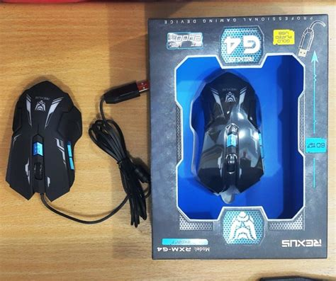 Jual Mouse Mouse Gaming Rexus G4 Baru Mouse Komputer Lapto jual rexus gaming mouse g4 coc komputer