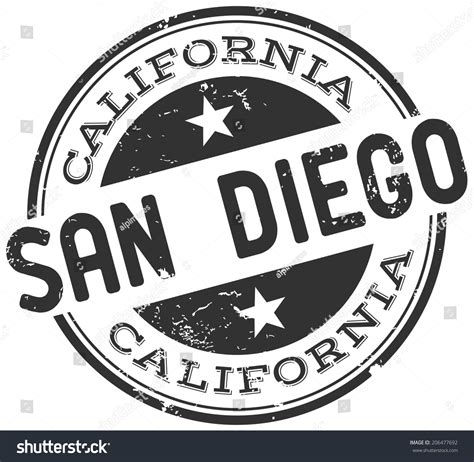 rubber sts san diego san diego st stock vector 206477692