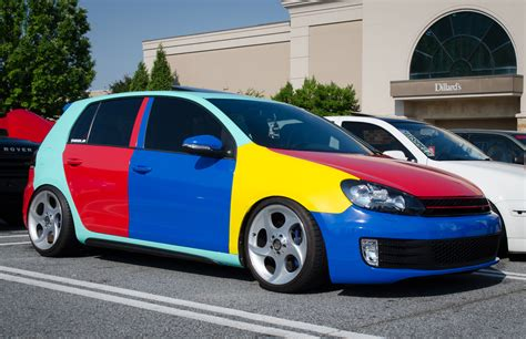 volkswagen harlequin vw golf 6 gti with harlequin theme spotted in connecticut
