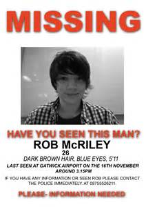 missing person template creating a missing poster for rob mcriley post 1