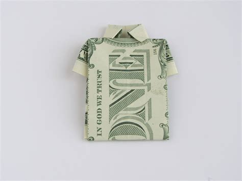 Easy Origami Money - money origami shirt