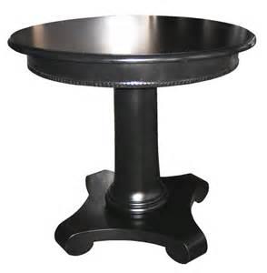 black pedestal cocktail desk living room