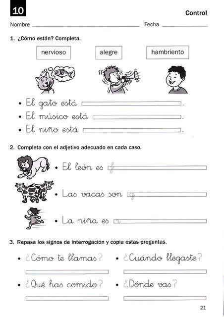 third grade spanish worksheets resume cover letter